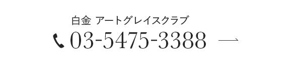 白金  アートグレイスクラブ 03-5475-3388